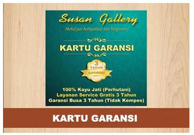 Kartu Garansi Susan Gallery Jati